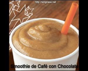 receta de smoothie de cafe con chocolate