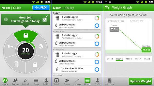 Las mejores aplicaciones android para ayudarte a adelgazar - Como calcular las calorias de los alimentos que consumo ...